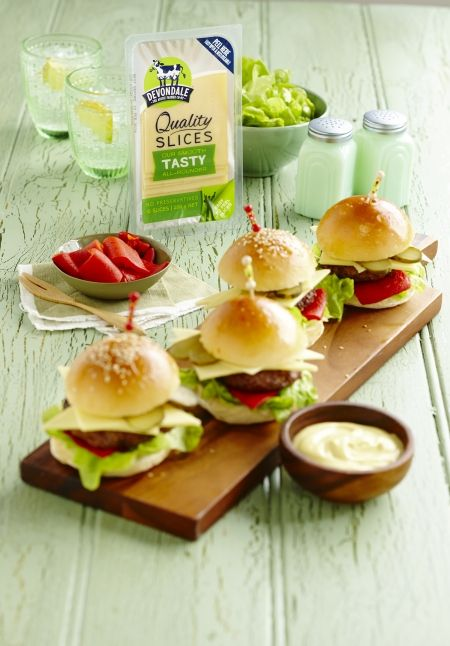 Cheesy Beef Sliders | Devondale