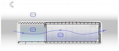 Diagrama de ventilación de casa autosuficiente | Construye Hogar