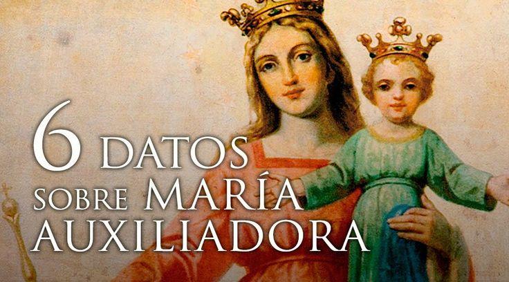 """Hoy la Iglesia conmemora a la Santísima Virgen bajo su advocación de """"María, Auxilio de los Cristianos"""". Aquí algunos datos que quizás no conocías sobre María Auxiliadora:"""