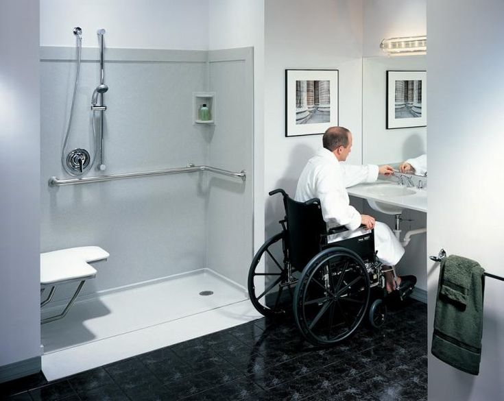 Best Wheelchair Accessible Shower Ideas On Pinterest - Wheelchair accessible bathroom vanity for bathroom decor ideas