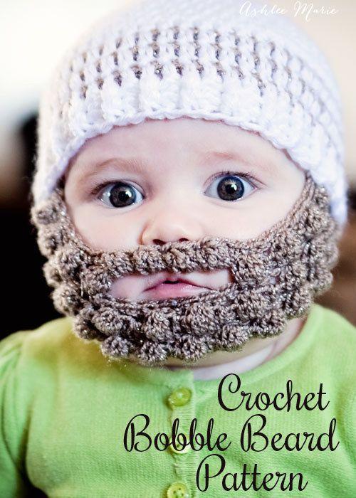 Sombrero con barba | 29 Cosas increíblemente geniales que puedes tejer para un bebé