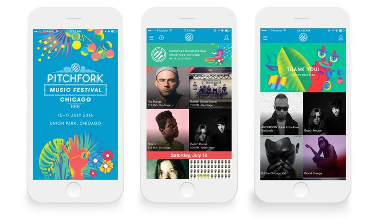 Pitchfork Chicago 2016 - Festival Branding - Simone Noronha - Illustration & Design