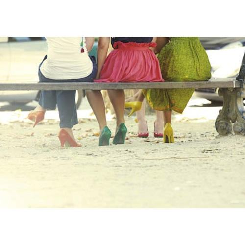 kleurrijke schoenen