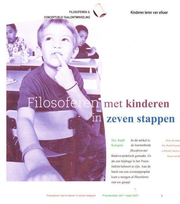 Filosofere met kinderen in 7 stappen