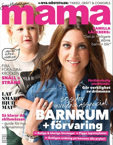 mama nr 12, 2012. Writer Camilla Läckberg is on the cover.