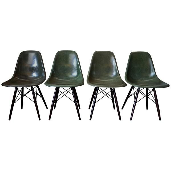 Image result for green eames dining chairs
