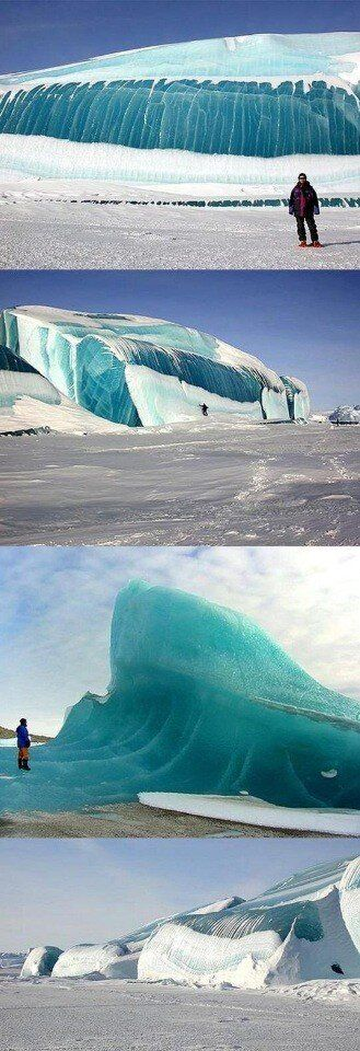 Frozen waves in Antarctica