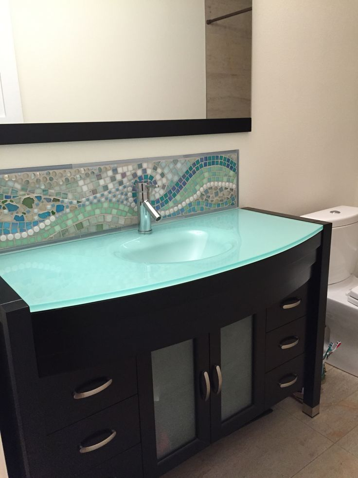 25 best glass countertops ideas on pinterest bathroom sink decor stone bathroom and green for Glass bathroom sinks countertops