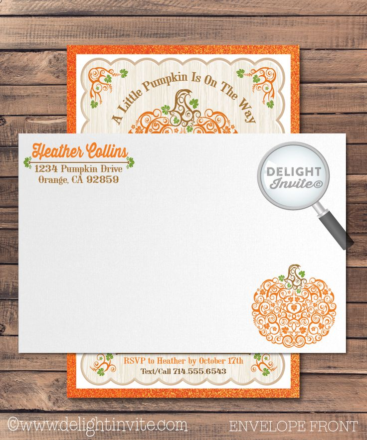 7 best Little Pumpkin Baby Shower Invitation Set! images on ...