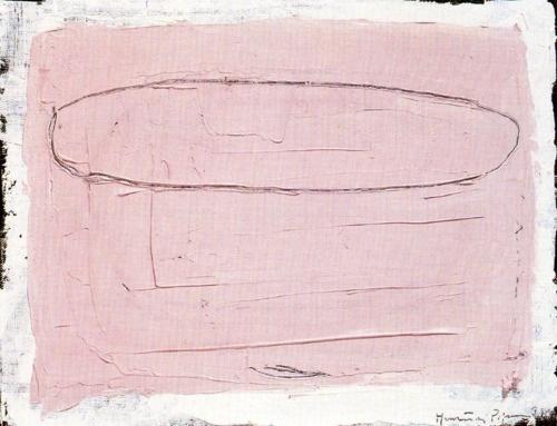 Joan Hernández Pijoan Núvol sobre cel rosa. 1990 Óleo sobre tela. 27 x 35 cm.VIA