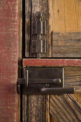 Sun Valley Bronze gate latches for interior doors! Available at Katonah Architectural Hardware