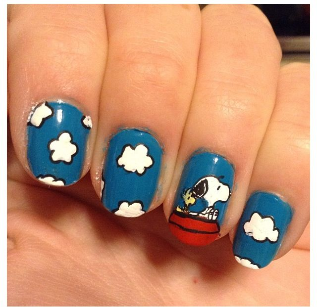 Snoopy nail art ~ I want these so bad! - The 25+ Best Snoopy Nails Ideas On Pinterest Cartoon Nail