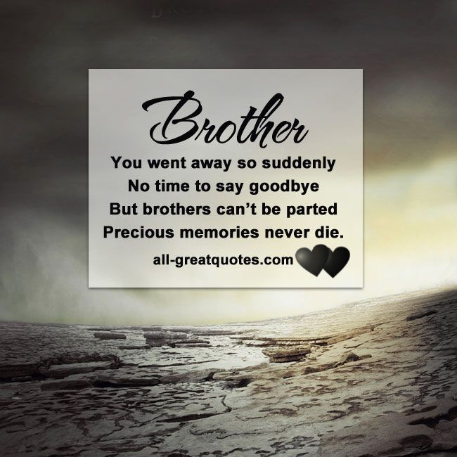 Good Quotes For Brother: Brother Memorial Card - You Went Away So Suddenly
