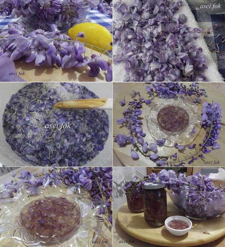 Mor Salkım Çiçeği Reçeli                        -  Nurdan Çakır Tezgin #yemekmutfak