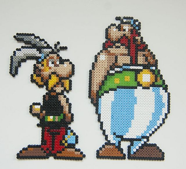 sandylandya@outlook.es Asterix & Obelix hama perler beads by SandryMeow