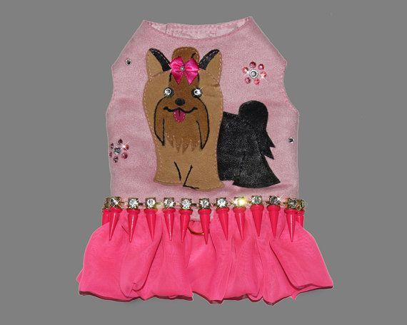 New Designer Apparel Adorable Yorkie Harness Dress
