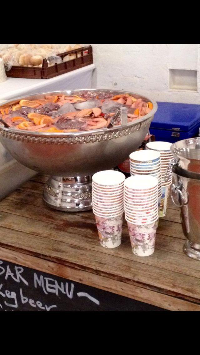 DIY cocktail printed cups retro wedding ideas