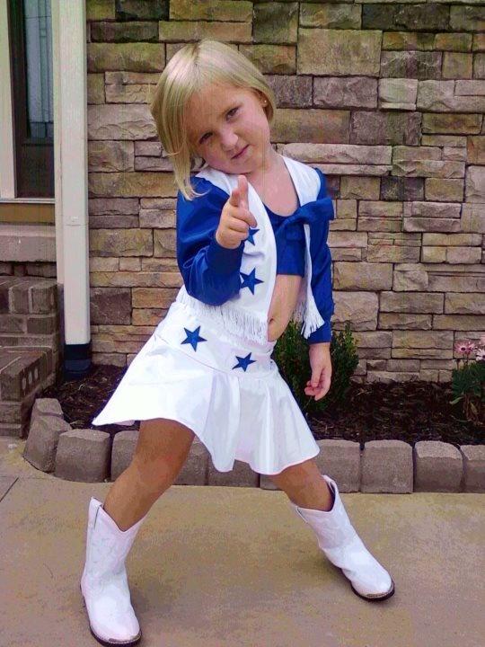 Future Dallas Cowboy Cheerleader,Daddy's dream ... for season tickets!