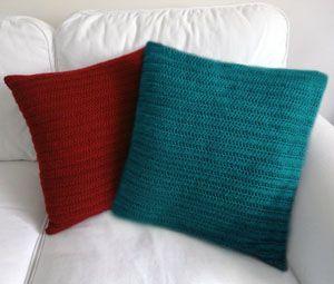 crochet classic pillow cover