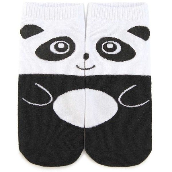 Forever21 Split Panda Graphic Ankle Socks (€1,61) ❤ liked on Polyvore featuring intimates, hosiery, socks, short socks, tennis socks, forever 21 socks, forever 21 and panda socks