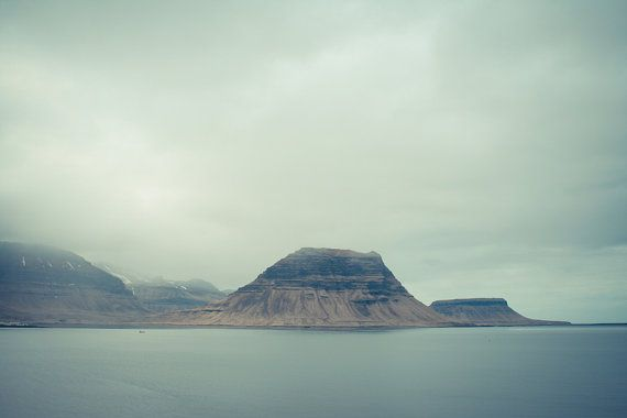"Northern fjord photography, Iceland landscape, Nordic art print, Mountains, Scandinavia, 12"" x 8"", 30 cm x 20 cm"