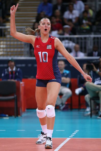 Olympics Day 3 - Volleyball  Jordan Larson University of Nebraska athlete in the Olympics.