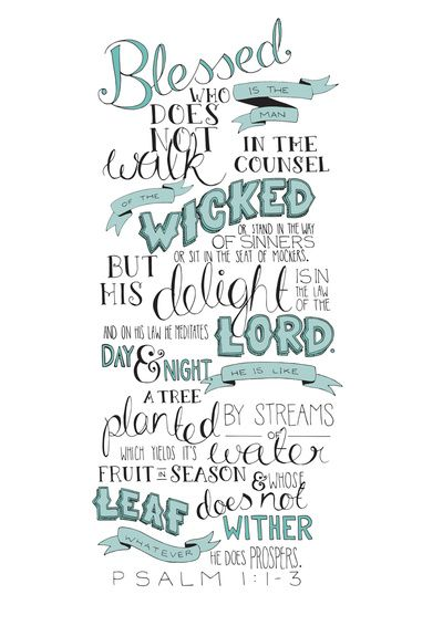 #MarriagePrayer3 Lord, may our delight be in YOU, may we meditate on Your law day and night. When we do so, our marriage and our family will be like a tree planted by streams of water, which yields FRUIT in its season and whose leaf does not wither! - See more at: MercyIsNew Psalm 1:1-3