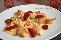 Les recettes de Nathou: Aiguillettes de poulet, sauce crémeuse au chorizo