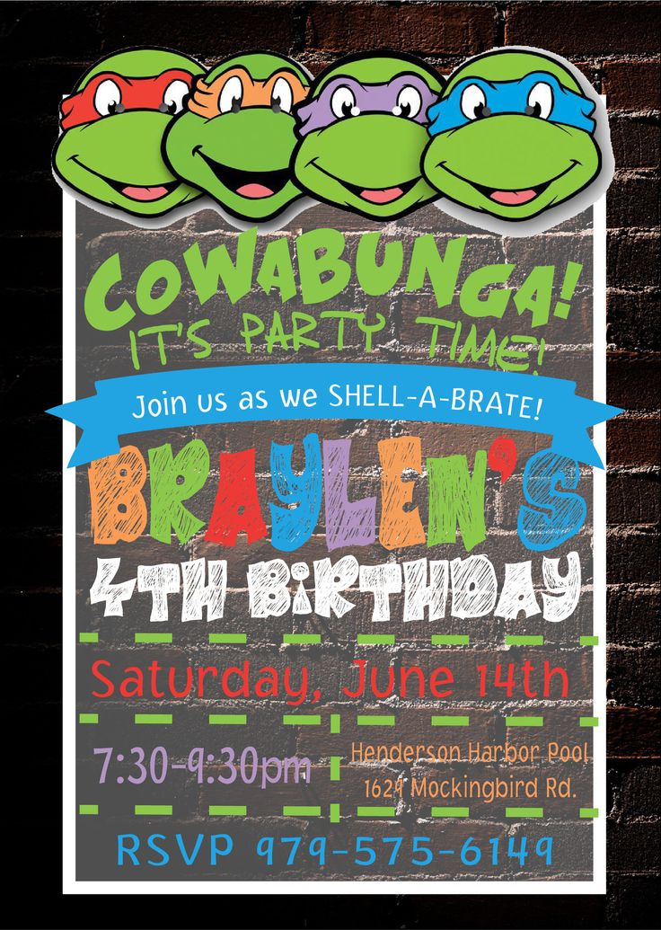 Best 25+ Ninja turtle invitations ideas on Pinterest | Ninja ...