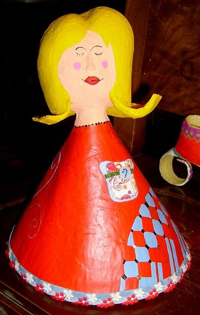 [Papel mache] boneca Luisinha | Flickr - Photo Sharing!