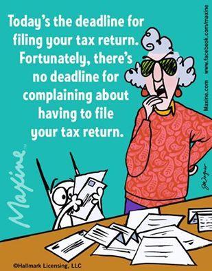 Maxine on taxes