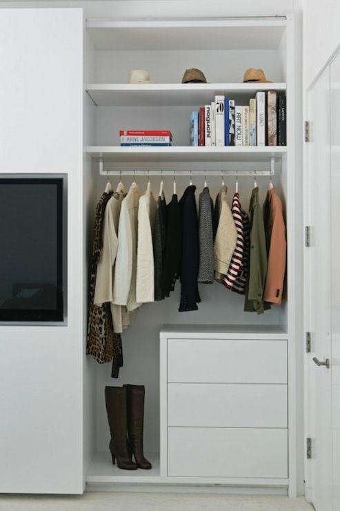 La closet design simple closet system with contemporary for Simple closet shelves
