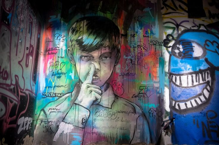 zabou - urban art galerie  abhrstation auf dem teufelsberg berlin  teil 2  urbanpresents  streetart urbex graffiti