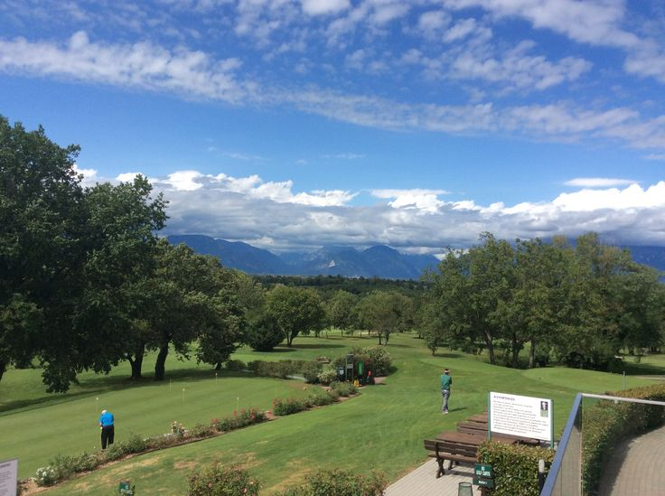 The view on Golf Club Udine's Golf Course from the Club House. Fagagna, Udine - Italy