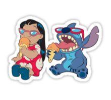 Lilo and Stitch eating Sticker