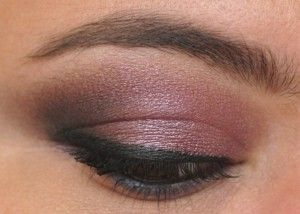 Smoky purple lids from the Urban Decay Smoked palette.