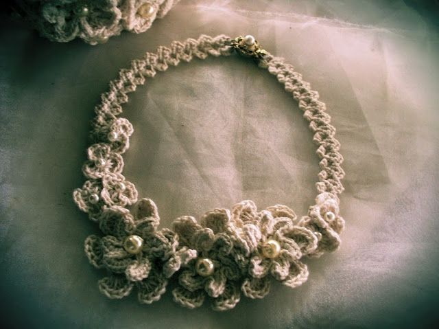 Crochetology by Fatima: Cotton Lover's Bridal Necklace