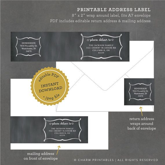Best 25+ Address label template ideas on Pinterest Print address - address label template free