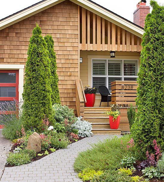 Curb Appeal – An eye-catching exterior is one of the hottest home improvement trends, and it's a feasible update for both new and old homes. A front yard garden, fresh exterior color, updated hardware, or a new garage door can work wonders for your home's facade. BHG