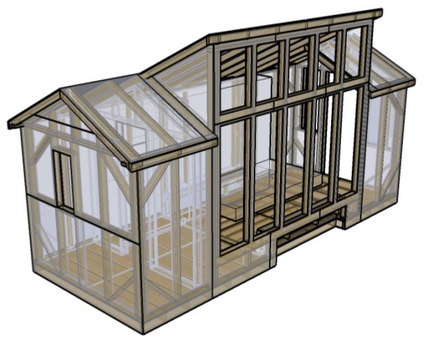 8x20 solar house - free downloadable tiny house plans here.