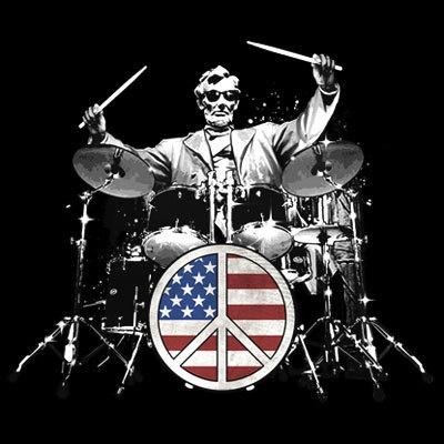 Patriotic Tshirt Peace Drums Abraham Lincoln Memorial USA American Flag Pride | eBay