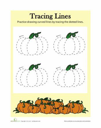 Worksheets: Pumpkin Drawing