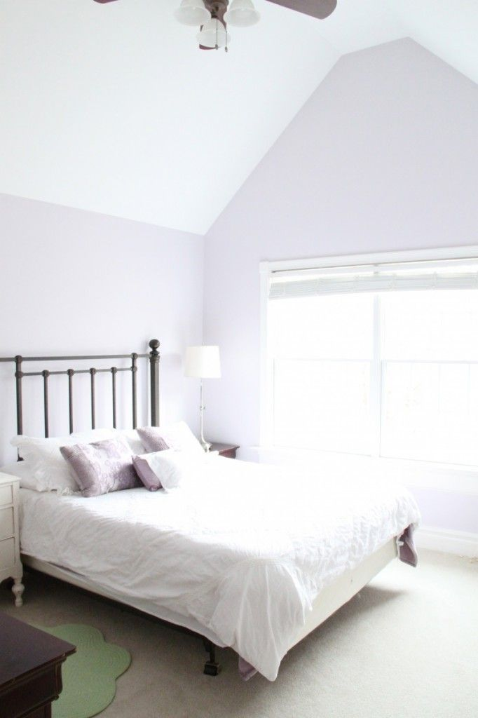 Cute Purple Girl's Room with Silver Peony