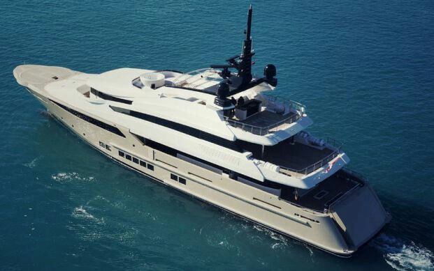 For sale: 46m motor yacht with helipad. Asking: 25 Mio. Contact…