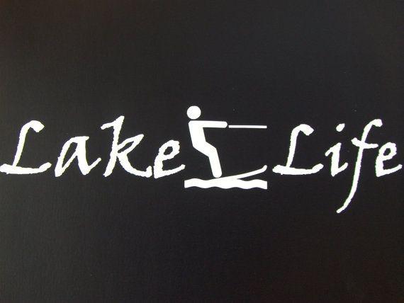 Lake Life Water Skiing Wake boarding Boat by Bananasquaddecals, $3.00