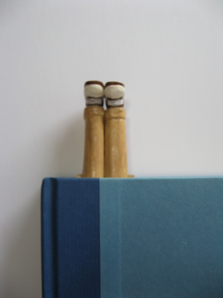 'Whats that sticking out of your book?!'  Brown and Beige Legs Bookmarks.