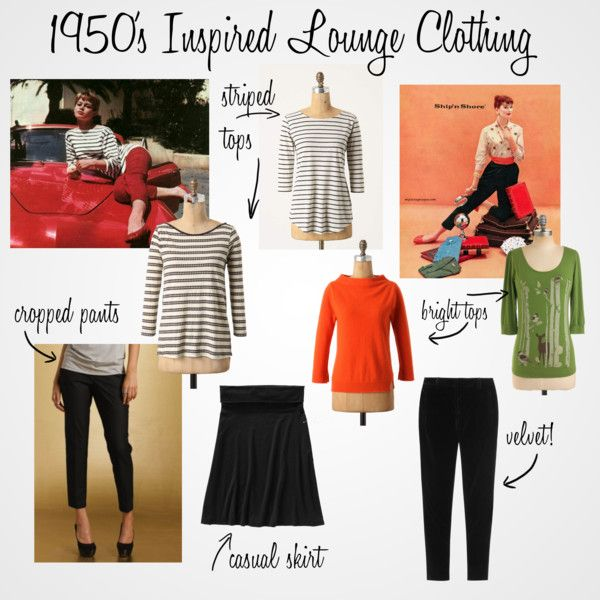 """""""1950's Inspired Lounge Clothing"""" by theglamoroushousewifedotcom on Polyvore"""