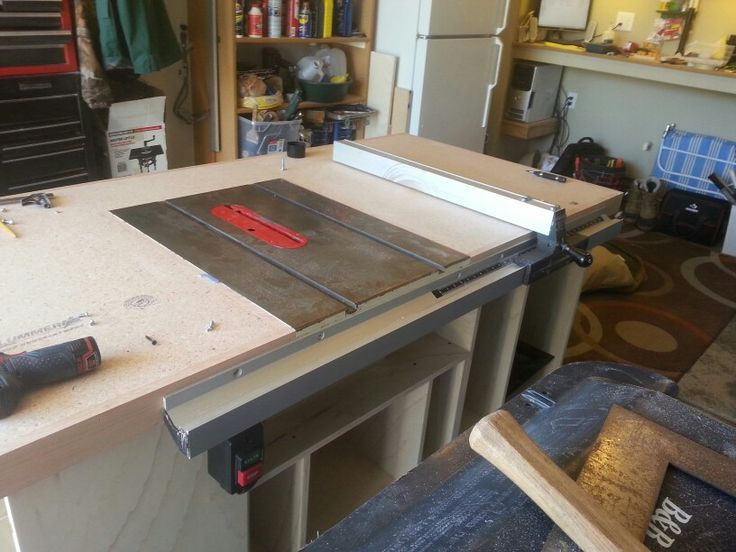 Started my own table saw router table work bench center for Router work table