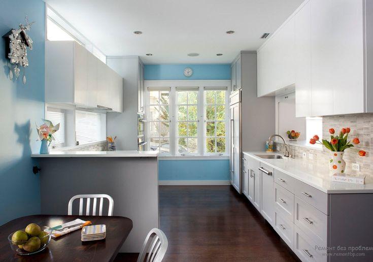 Интерьер кухни синего цвета: секреты успешного дизайна в синих тонах