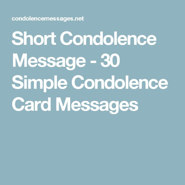 The  Best Short Condolence Message Ideas On
